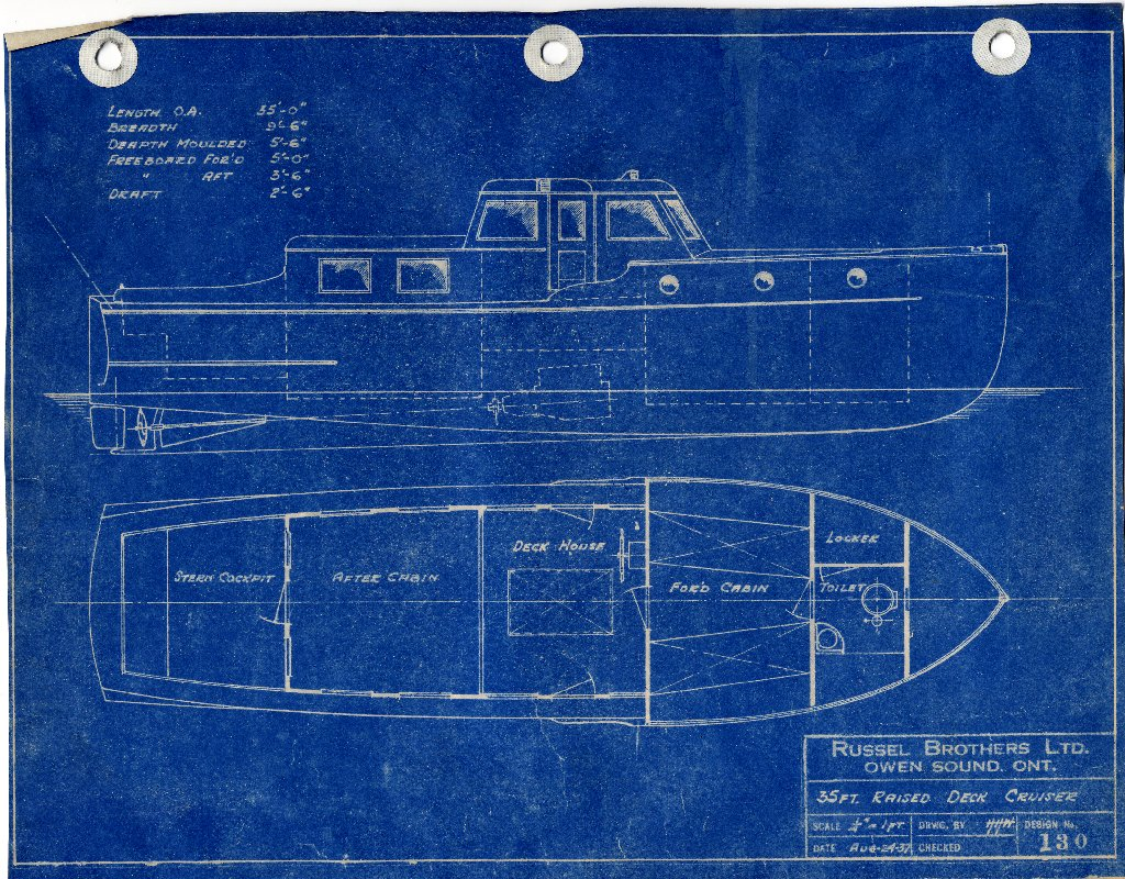 Russel brothers ltd steelcraft winch boat and warping tug builders blueprints aug malvernweather Choice Image