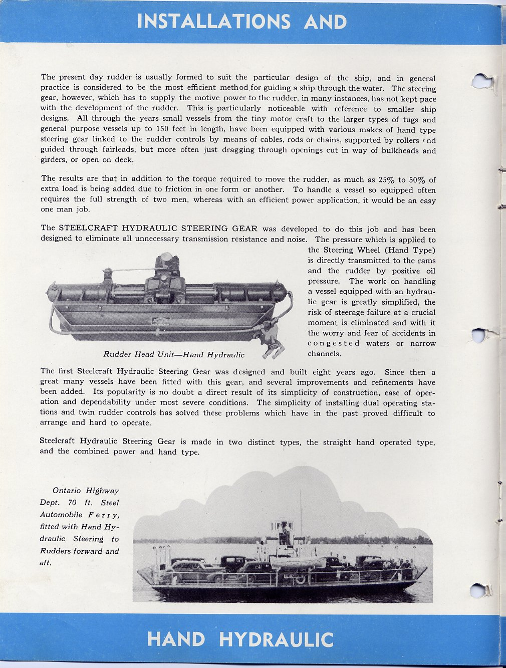 Boat+Hull+Designs+Blueprints RUSSEL BROTHERS Ltd. Steelcraft winch ...